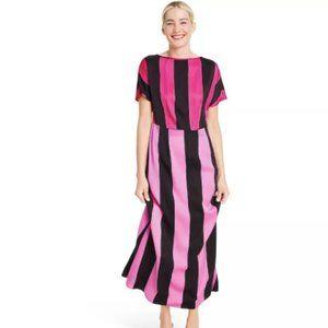 Mixed Stripe Short Sleeve Dress
